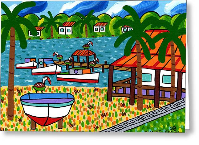 Key Motel-cedar Key Greeting Card
