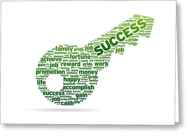 Key To Success Greeting Card by Aged Pixel