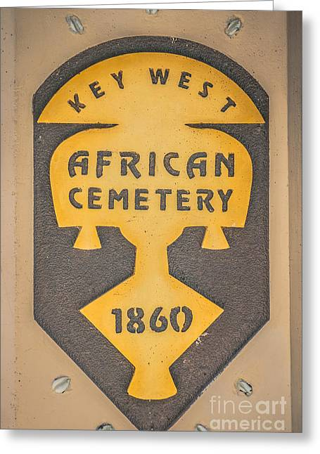Key West African Cemetery 3 - Key West - Hdr Style Greeting Card by Ian Monk