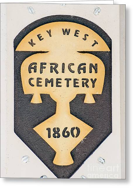 Key West African Cemetery 3 - Key West Greeting Card by Ian Monk