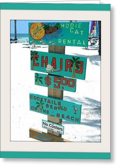 Key West Beach Greeting Card by Bruce Kessler