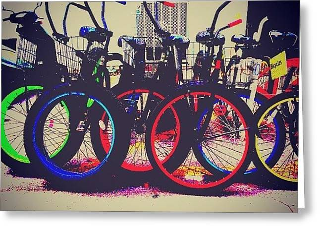 Key West Bikes For Rent Greeting Card