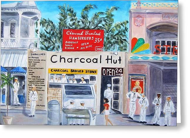 Key West Charcoal Hut Greeting Card