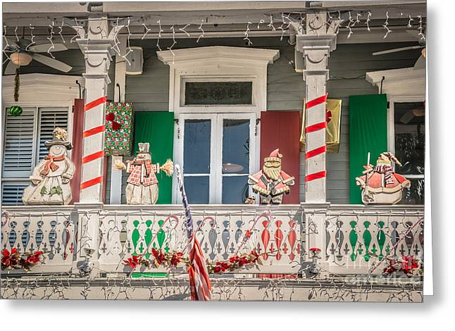 Key West Christmas Decorations 1 - Hdr Style Greeting Card