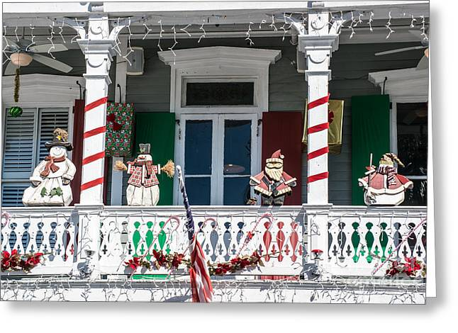 Key West Christmas Decorations 1 Greeting Card