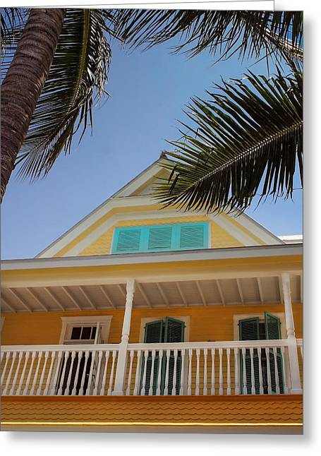 Greeting Card featuring the photograph Key West House by Glenn DiPaola