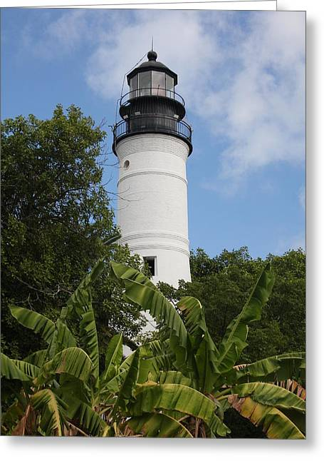 Key West Lighthouse  Greeting Card by Christiane Schulze Art And Photography