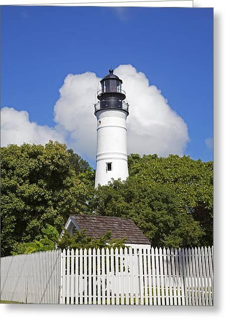 Key West Lighthouse Greeting Card by John Stephens