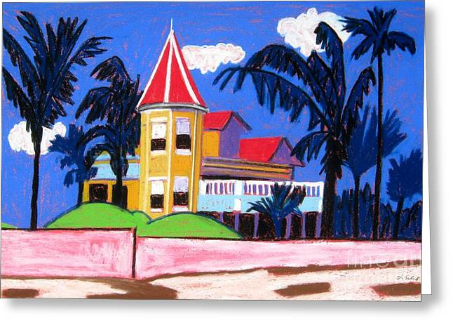 Key West Southern House Greeting Card by Lesley Giles