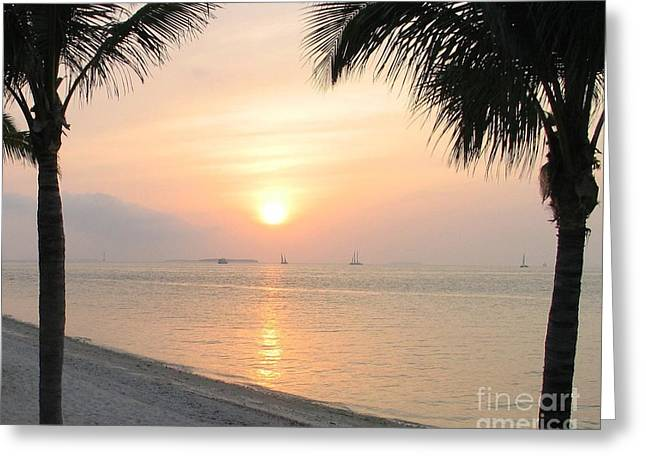 Greeting Card featuring the photograph Key West Sunet by Shelia Kempf