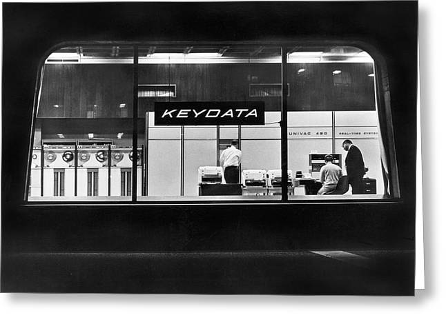 Keydata's Univac 491 Computers Greeting Card by Underwood Archives