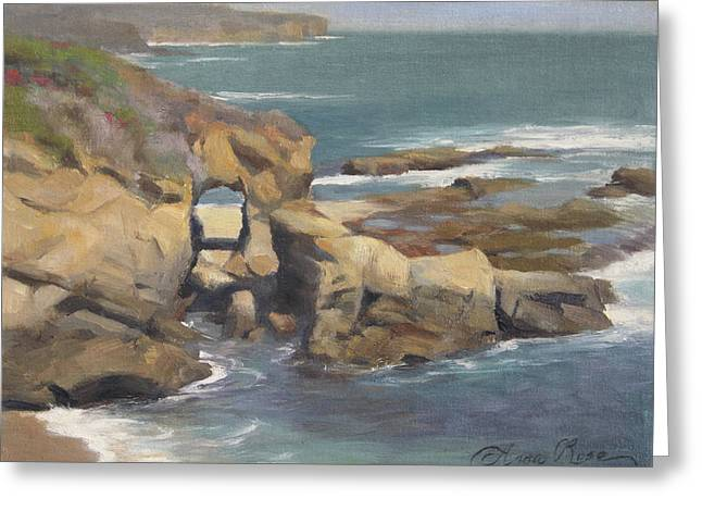 Keyhole Rock At The Montage Laguna Beach Greeting Card by Anna Rose Bain