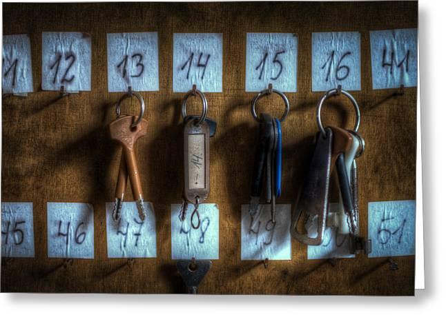 Keys Greeting Card by Nathan Wright