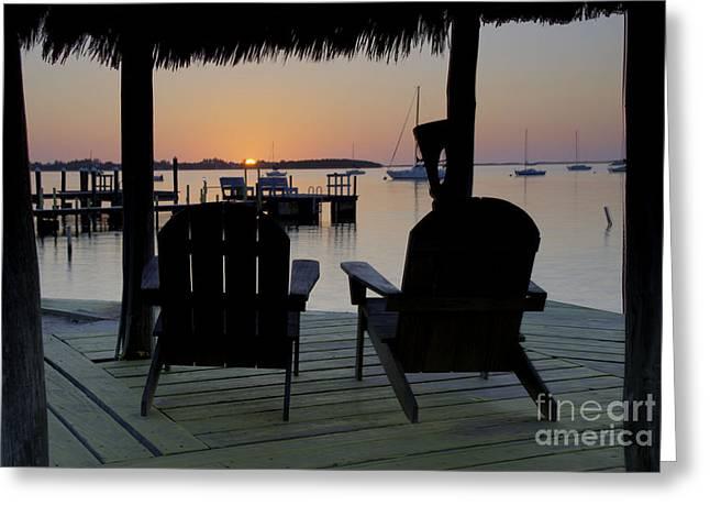 Keys Sunset Iv Greeting Card by Bruce Bain