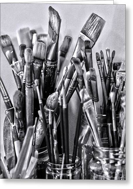 Keys To The Eye Of Life Bw By Denise Dube Greeting Card