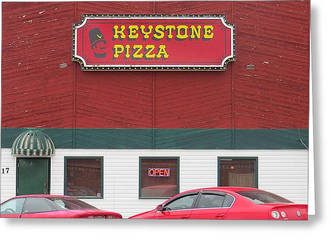 Keystone Pizza Greeting Card