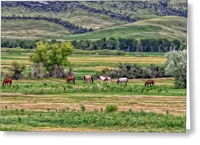 K G Ranch Greeting Card by Michael Pickett