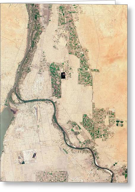 Khartoum Greeting Card by Nasa Earth Observatory