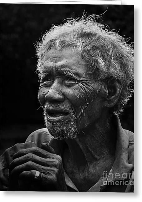 Kho Old Man Greeting Card
