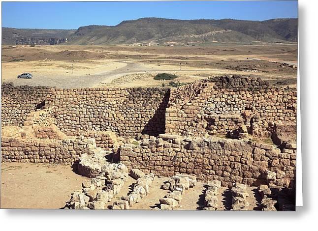 Khor Rori Archaeological Site Greeting Card by Bildagentur-online/tschanz-hofmann