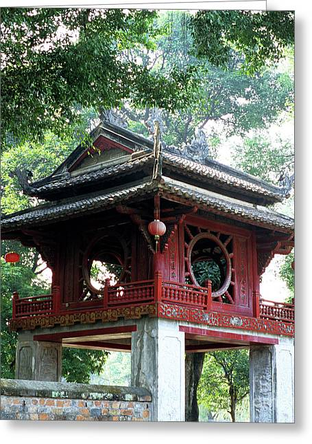 Khue Van Cac Gate Greeting Card by Rick Piper Photography