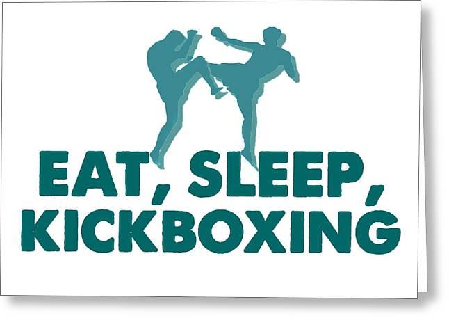 Kick Boxer - Kickboxing Greeting Card