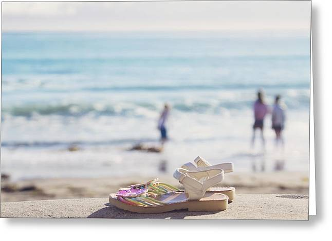 Kick Off Your Shoes... And Play Greeting Card by Cindy Garber Iverson