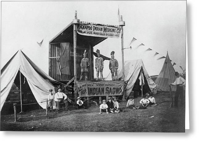 Kickapoo Indian Medicine Company Greeting Card by Hagley Museum And Archive