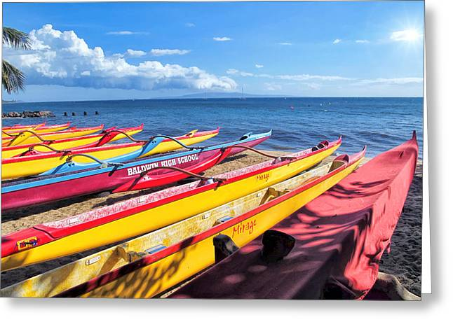 Greeting Card featuring the photograph Kihei Canoe Club 6 by Dawn Eshelman