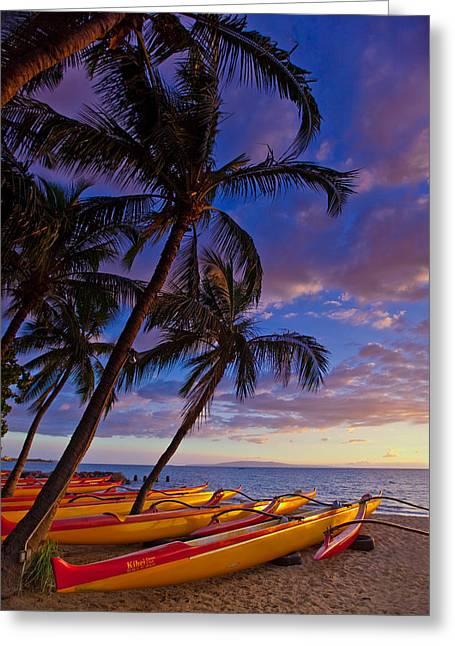 Kihei Canoes Greeting Card