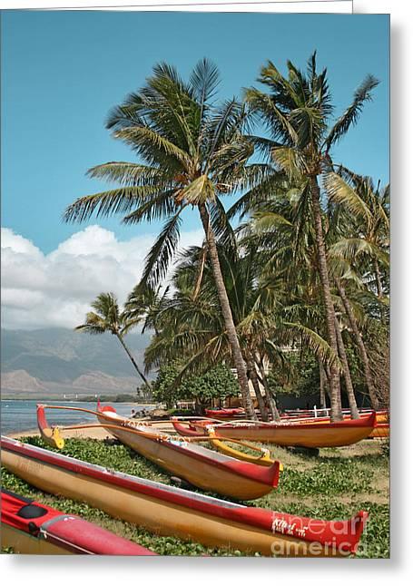Sugar Beach Kihei Maui Hawaii Greeting Card by Sharon Mau