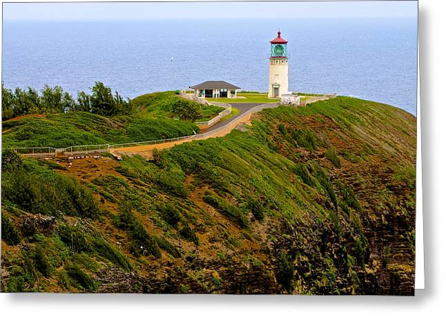 Kilauea Lighthouse In Color Greeting Card by Photography  By Sai