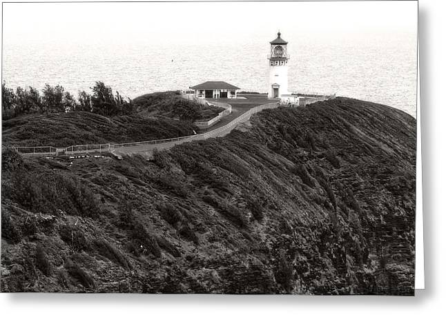 Greeting Card featuring the photograph Kilauea Lighthouse by Photography  By Sai