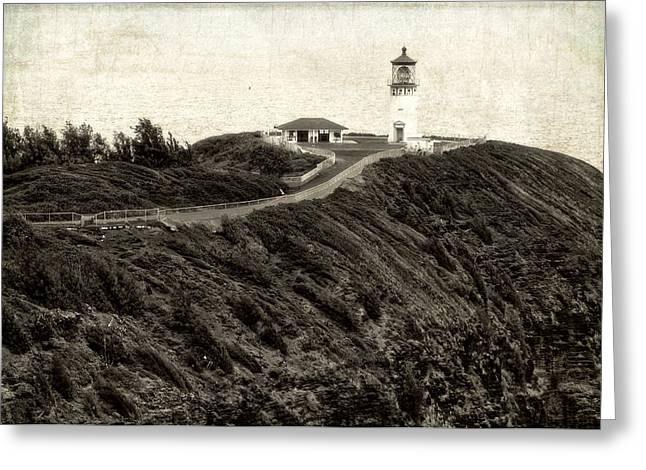 Kilauea Lighthouse Vintage Look And Feel Greeting Card