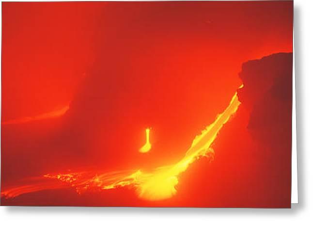 Kilauea Volcano Hawaii Hi Usa Greeting Card by Panoramic Images