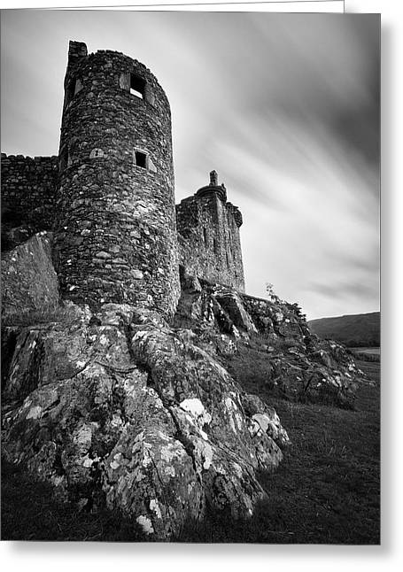 Kilchurn Castle Walls Greeting Card by Dave Bowman