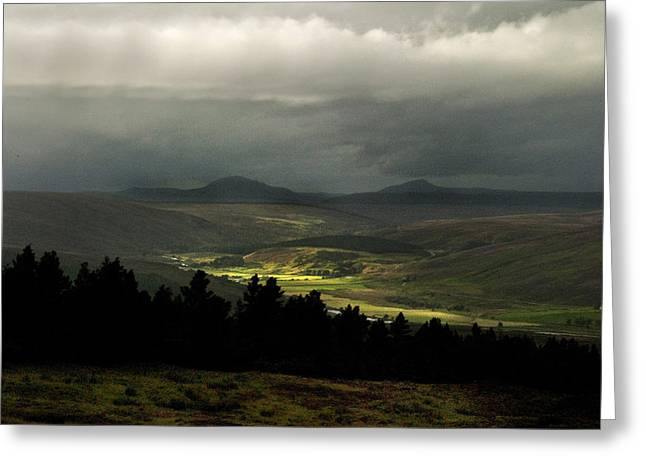 Kildonan Strath Northern Highlands Of Scotland Greeting Card