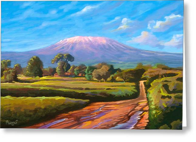 Kilimanjaro Greeting Card