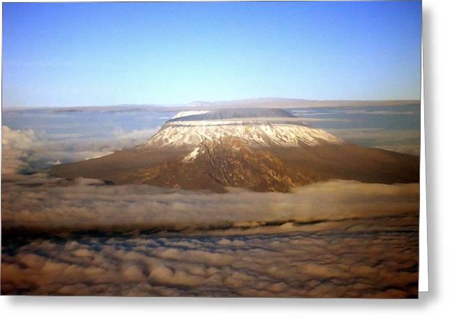 Kilimanjaro Greeting Card by Tuntufye Abel