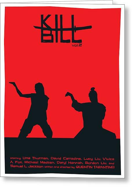 Kill Bill Vol.2 Poster Greeting Card
