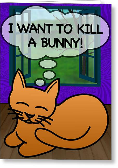 Cat Thoughts Greeting Card