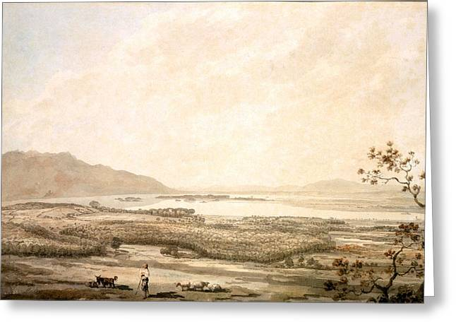 Killarney From The Hills Above Muckross Greeting Card by William Pars