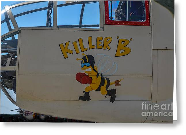 Killer B Greeting Card by Dale Powell
