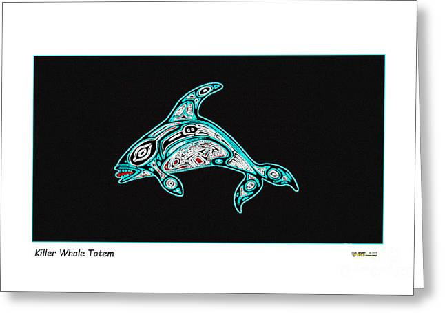Killer Whale Totem Greeting Card