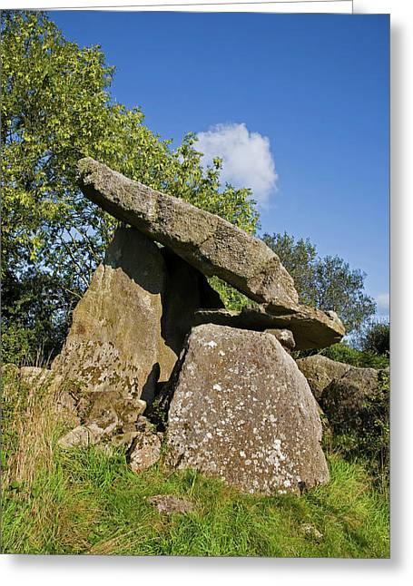 Kilmogue Megalithic Tomb, Harristown Greeting Card by Panoramic Images