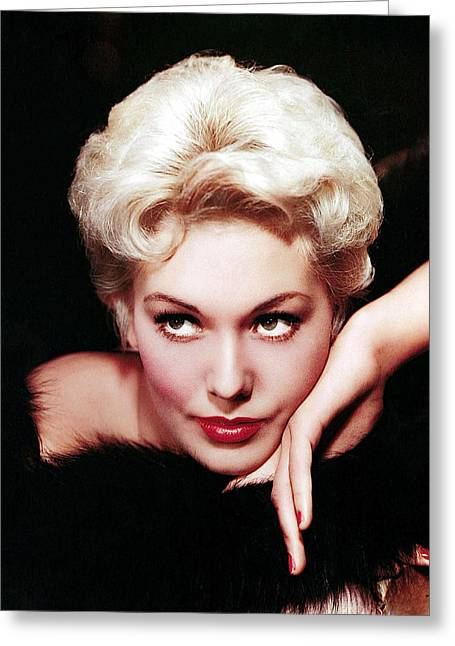 Kim Novak In An Undated Columbia Studios Publicity Portrait-2009 Greeting Card by David Lee Guss