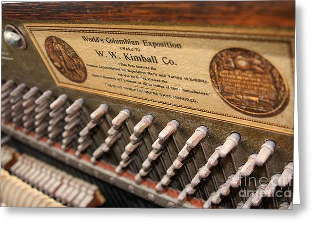 Kimball Piano-3476 Greeting Card by Gary Gingrich Galleries