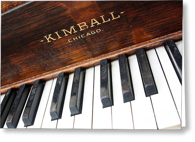 Kimball Piano-3479 Greeting Card by Gary Gingrich Galleries
