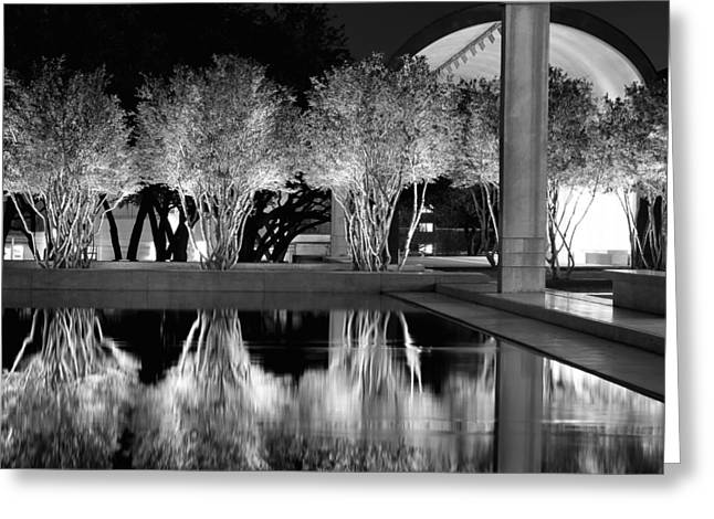 Kimbell Art Museum Bw 031115 Greeting Card