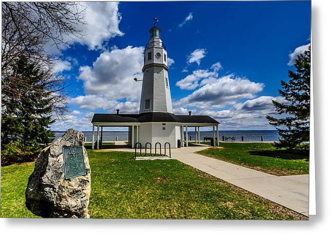 Kimberly Point Lighthouse Greeting Card by Randy Scherkenbach